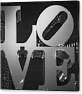 Bnw Philly Love 0218b Canvas Print