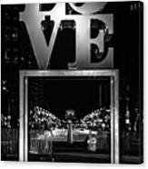 Bnw Philly Love 0218c Canvas Print