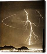 Bo Trek Lightning Art Canvas Print