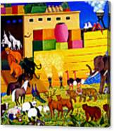 Boarding Noah's Ark At Night Canvas Print