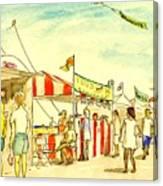 Boardwalk Artshow Virginia Beach Canvas Print