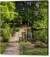 Boardwalk Bridge Maymont Japanese Garden Canvas Print