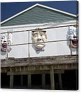 Boardwalk Clowns Canvas Print