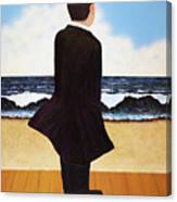 Boardwalk Man Canvas Print