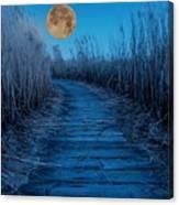 Boardwalk Moon Canvas Print