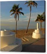 Boardwalk Palms Canvas Print