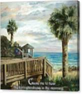 Boardwalk With Lifeguard Psalm 143 Canvas Print