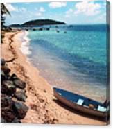 Boat Beach Vieques Canvas Print