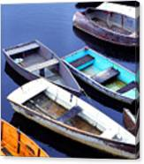 Boat Dock Camp Ellis Canvas Print