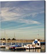 Boat Dock On The Bay Canvas Print