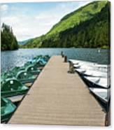 Boat Fun At Silver Lake Canvas Print