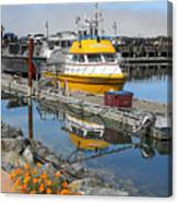 Boat Harbor At Bandon Canvas Print