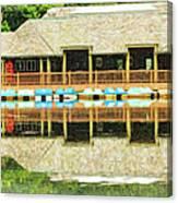 Boat House At Verona Park  Canvas Print