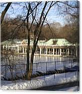 Boat House Central Park Ny Canvas Print