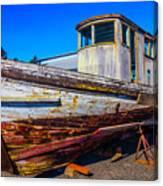 Boat In Dry Dock Canvas Print