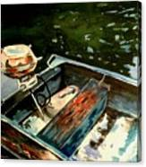 Boat In Fog 2 Canvas Print