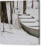 Boat In Winter Canvas Print