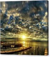 Boat Launch Sunrise Canvas Print