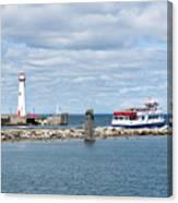 Boat Leaving Canvas Print