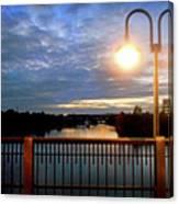 Boat Lights Sunset On Lady Bird Lake Canvas Print