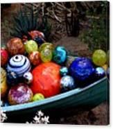 Boat Load Of Blown Glass Balls Canvas Print