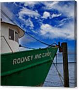 Boat Love In Apalachicola Canvas Print