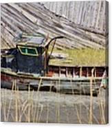 Boat N Buoys Canvas Print