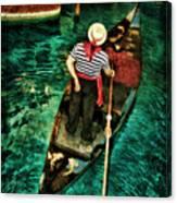 Boat Of Venice Canvas Print