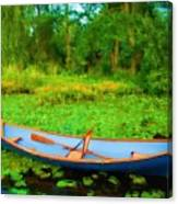 Boat On Bryant Pond Canvas Print