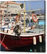 Boat On Hydra Canvas Print
