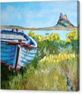 Boat On Lindisfarne. Canvas Print