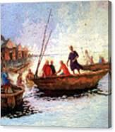 Boat Peaple Canvas Print