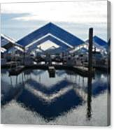 Boat Reflection On Lake Coeur D'alene Canvas Print