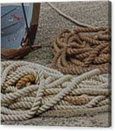Boat Ropes Canvas Print