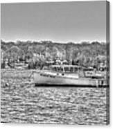 Lobster Boat Mount Sinai Harbor Li.ny Canvas Print