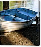 Boat Under The Bridge Canvas Print