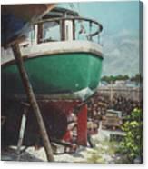 Boat Yard Boat 01 Canvas Print