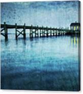 Boathouse Blue Canvas Print