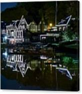 Boathouse Row Eight By Ten Canvas Print