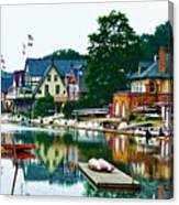 Boathouse Row In Philly Canvas Print