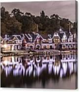 Boathouse Row Night Canvas Print