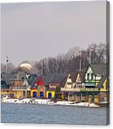 Boathouse Row On A Winter Morning Canvas Print