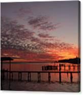 Boathouse Sunset Canvas Print