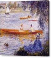 Boating At Argenteuil 1873 Canvas Print