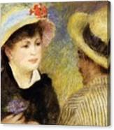 Boating Couple Aline Charigot And Renoir 1881 Canvas Print