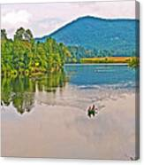 Boating On Connecticut River Between Vermont And New Hampshire Canvas Print