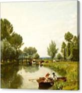 Boating On The Stour Canvas Print