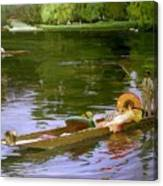 Boating Scene At Maidenhead Sir John Lavery Canvas Print