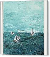 Boats And Birds Canvas Print