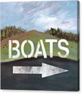 Boats- Art By Linda Woods Canvas Print